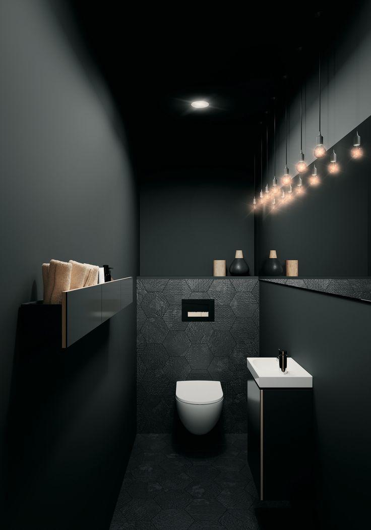 Toiletruimte met toilet en badkameubel van Sphinx …
