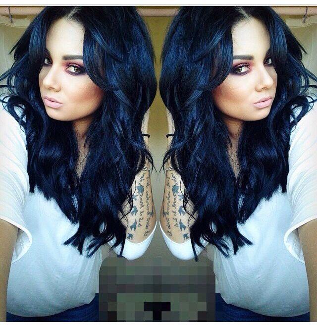Blue/black hair