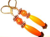 ♥ღ♥ Ohrringe orange ♥ღ♥