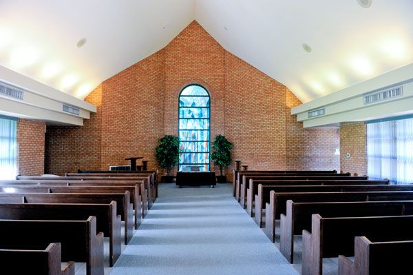 The chapel of Thornton Cemetery and Crematorium, located in Oshawa on Thornton Road, can house up to 125 people for services.