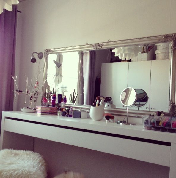 long mirror sideways 4 vanity or across the fireplace or dresser 2 enlarge a room :-)