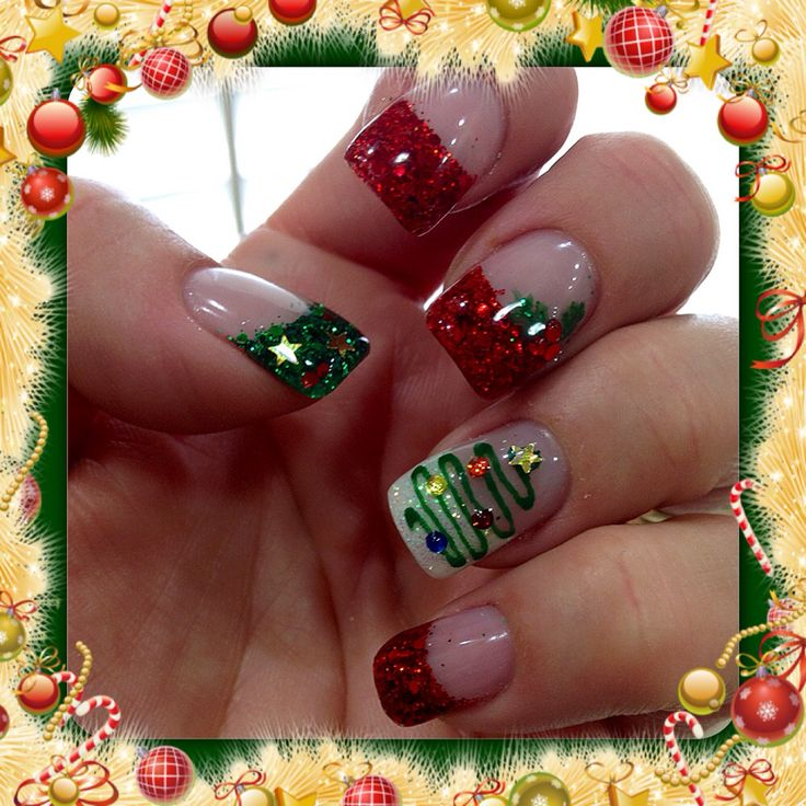 The 25+ Best Christmas Gel Nails Ideas On Pinterest