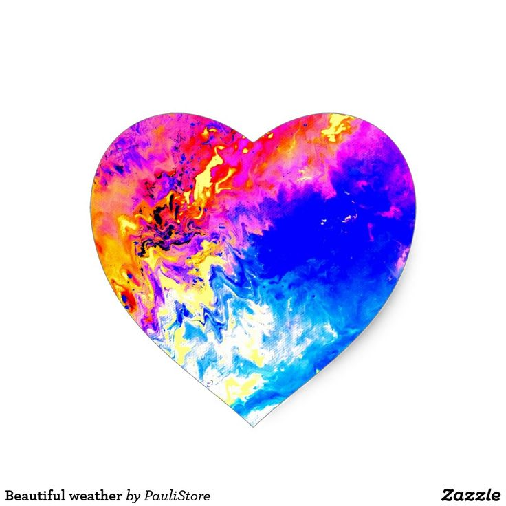 Beautiful weather heart sticker