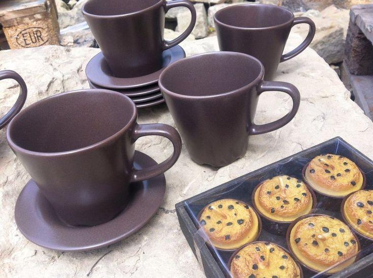 KAFFEE TASSEN  Set+ TEELICHER BOX Kuchen KAFFEE Frühstück Cappuccino TOP