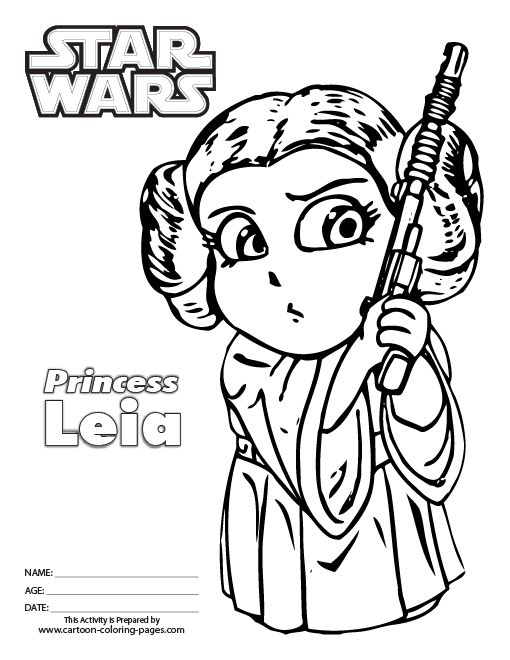 star wars leia coloring pages - photo#9