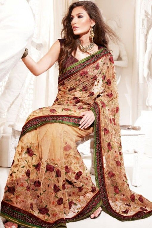 embroidered saree | Embroidered Sarees | Fashion Trends