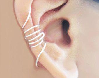 Ear Cuff Silver Bow Dainty Ear Wrap Earcuff by MaggieMadeWithLove