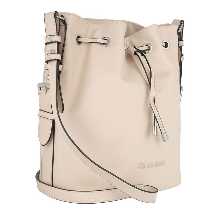 Armani Jeans Eco Synthetic Bucket Bag Light Beige at Fashionette