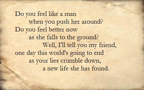 The Red Jumpsuit Apparatus - Face Down  Blasting this song in the car not just physical but emotional too.