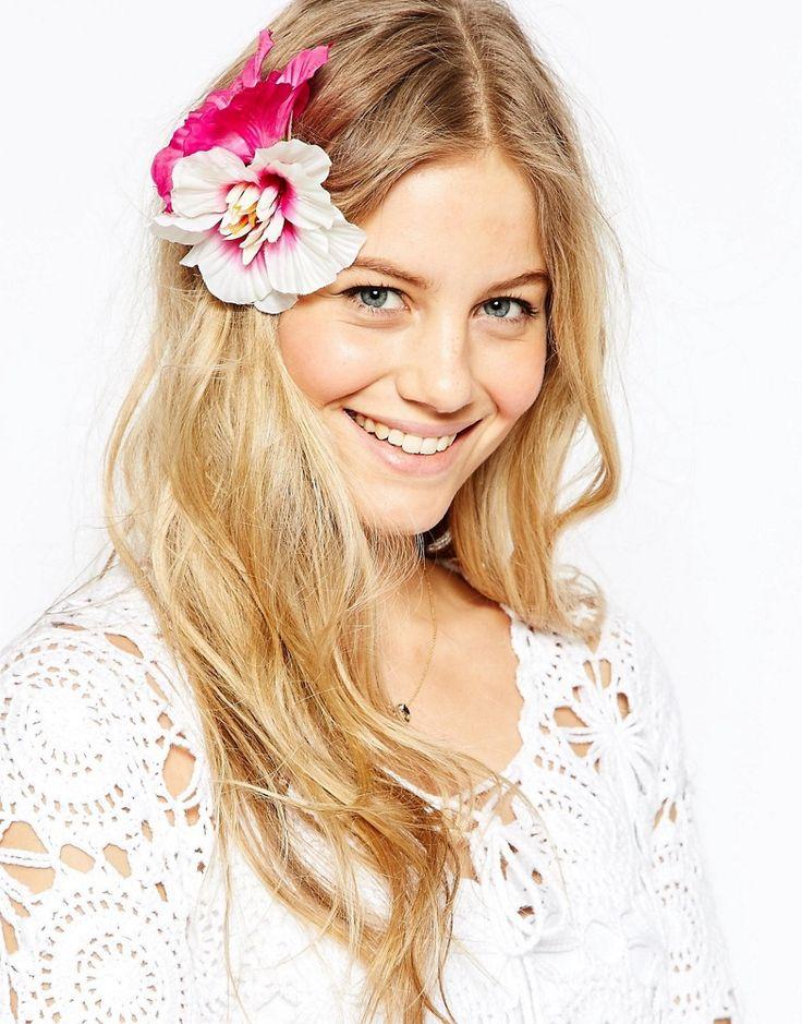 asos tropical flower hair corsage at asos com flowers in hair