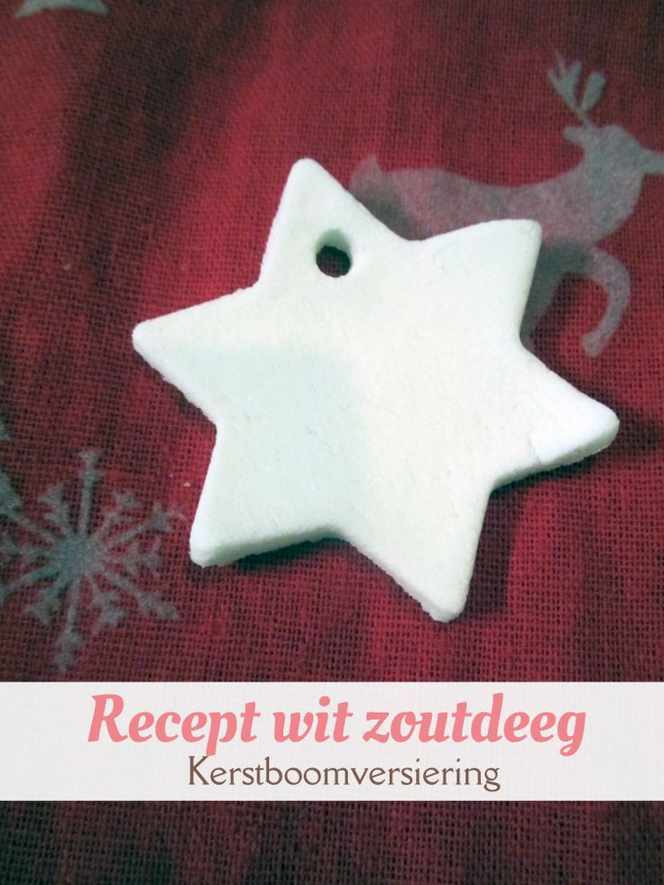 MizFlurry: Recept wit zoutdeeg om kerstboomversiering mee te knutselen (adventsactiviteit 13) - Recept voor spierwitte 'klei' gemaakt van maïzena en baking soda. Wordt hard na drogen, droogt sneller dan zoutdeeg.