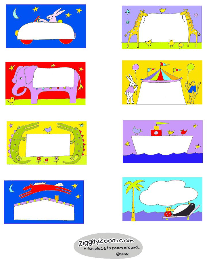 """Printable Book Labels for kids ... free and cute as can be """"Animals"""""""