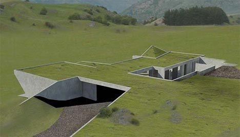 'Invisible' Set of Green Homes to be Hidden Underground Read more: http://dornob.com/invisible-set-of-green-homes-to-be-hidden-underground/#ixzz39N51eS62 Underground home design idea