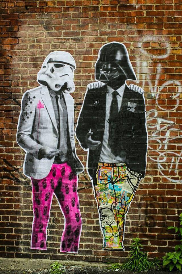 Wonderful Star Wars street art!