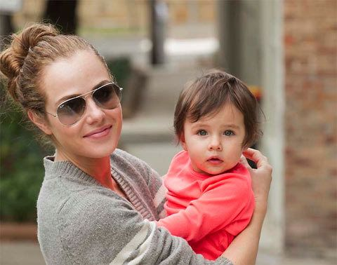 "Australian actress Jessica Marais and star of  hit US TV show ""Magic City"" (who met partner and fellow actor James Stewart while working on popular TV series ""Packed to the Rafters) is doting Mum to gorgeous little girl Scout. With genes like that good looks were assured!"