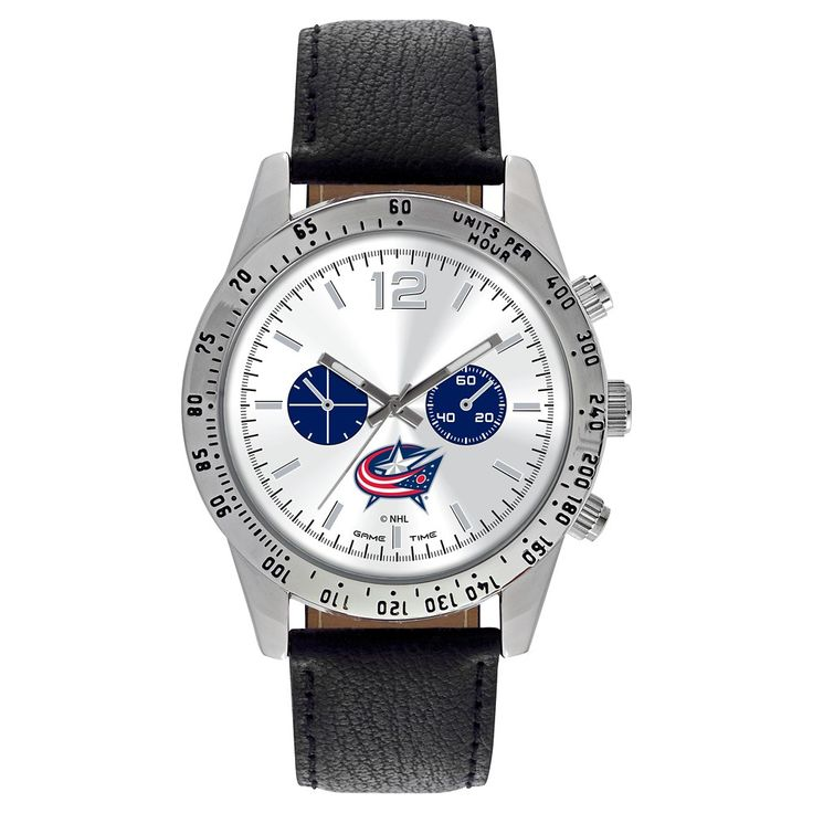 Men's Game Time NHL Letterman Sports Watch - Black -
