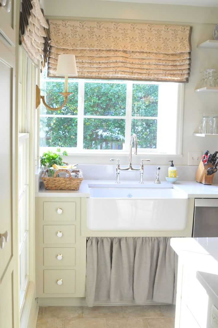 170 best images about window treatment ideas on pinterest for Farmhouse kitchen window treatments