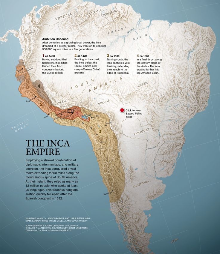 At it's prime, the Inca Empire stretched from Colombia to central Chile and ruled more than 12 million people who spoke at least 20 languages. Amazing! Anyone out there speak more than five?