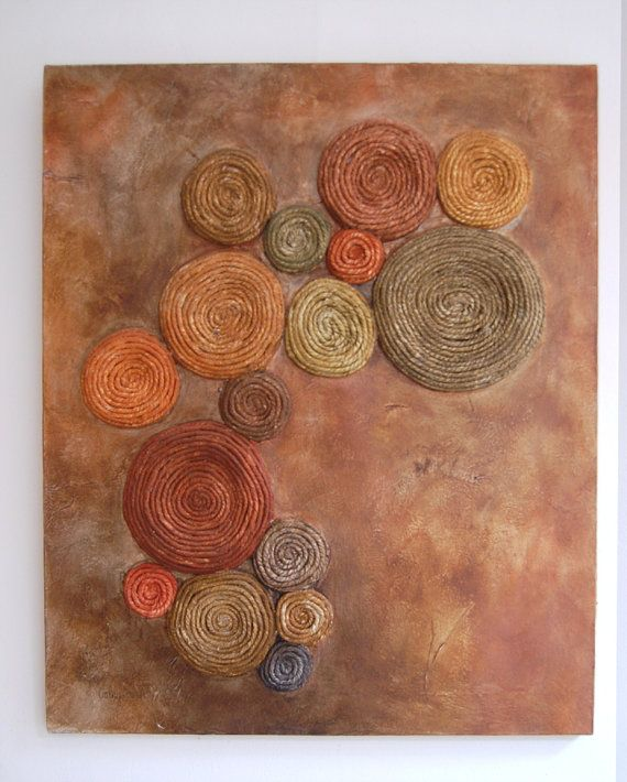 Tree Lichen Painting - Abstract Mixed Media - Evolution - Original - Copper and Green