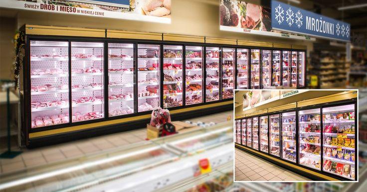 Холодильные горки для супермаркетов, крупных и малых магазинов