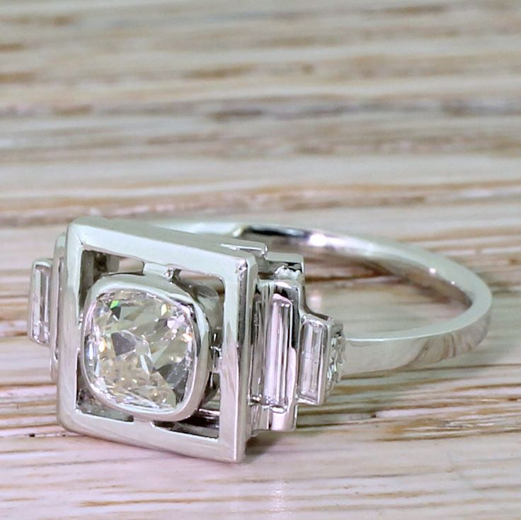 Art Deco 0.90 Carat Old Cut Diamond Solitaire Ring, circa 1930 by GatsbyJewels on Etsy https://www.etsy.com/uk/listing/575640179/art-deco-090-carat-old-cut-diamond