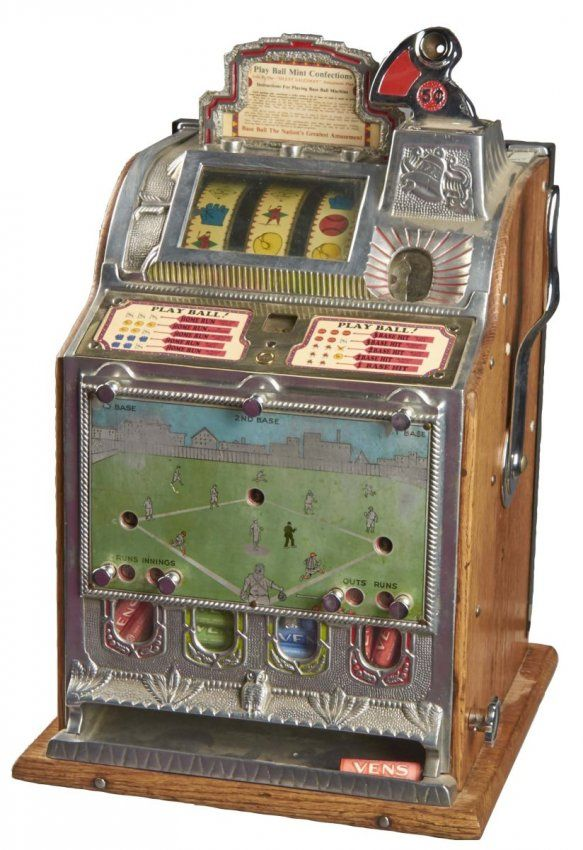 5 Mills FOK Baseball Vender Skill Slot Machine : Lot 1770