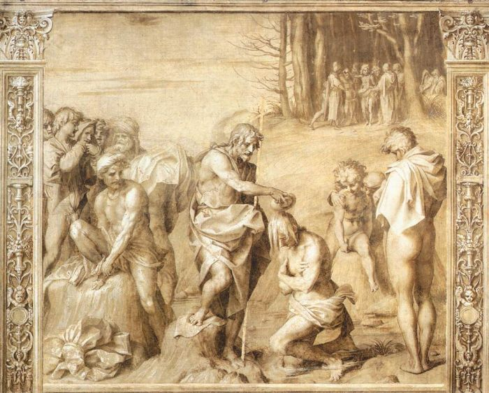 Baptism of the People by ANDREA DEL SARTO #art
