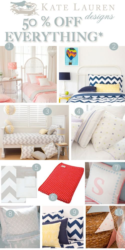 Kate Lauren Designs Sale: 50% Off Baby and Kids Bed Linen, Cot Sheets, Cushions, Blankets, Lamps and Decor Pieces