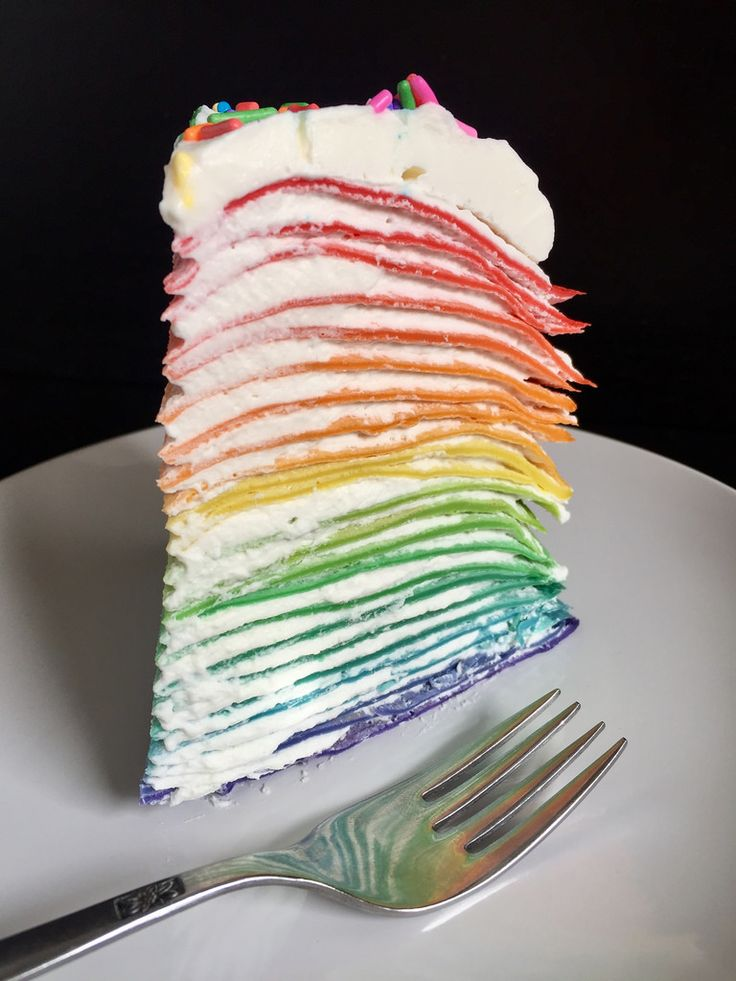 The Cooking of Joy: Rainbow Crepe Cake