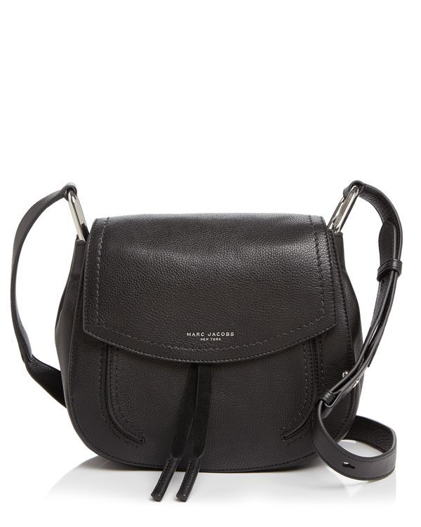 This effortless, flap front shoulder bag by Marc Jacobs shows off thoughtful details like suede ties and tonal stitching. | Leather | Imported | Adjustable shoulder strap | Magnetic flap closure; line