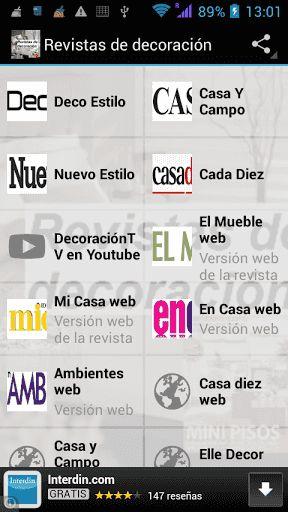 lector rss gratuito orientado a revistas de decoracin y enlaces a web de portales de decoracin