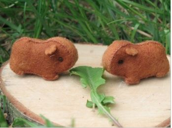I'll have to make these felt guinea pigs for my sister, since she can't keep a real one alive