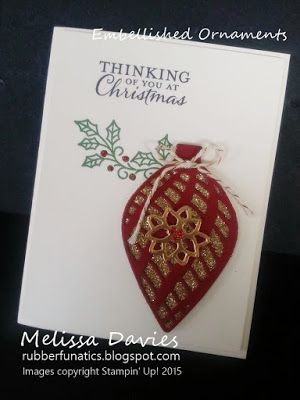 手机壳定制balenciago Stampin   Up Embellished Ornaments by Melissa Davies rubberfunatics rubberfunatics stampinup
