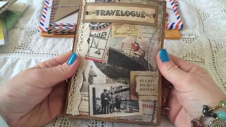 6 by 9 envelope travel junk journal from Beth