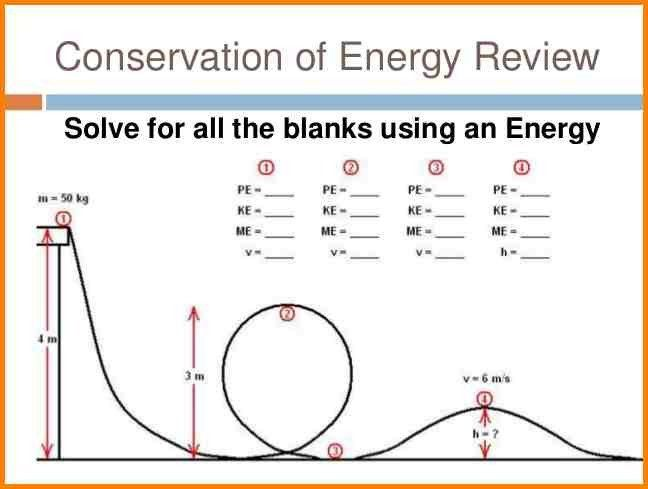 Conservation Of Energy Worksheets Worksheets Free Printable