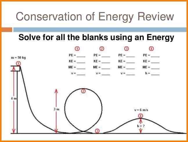 Conservation Of Energy Worksheets Conservation Energy Worksheets Free