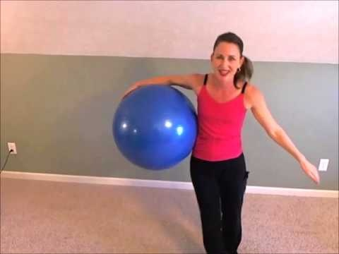 This is a fun fitness ball cardio workout. The music is fun, the moves are simple and all this done in a low impact/joint friendly workout way. TheB eachBodyMom specializes in low impact, joint friendly,simple,basic and fun workouts everyone can enjoy.