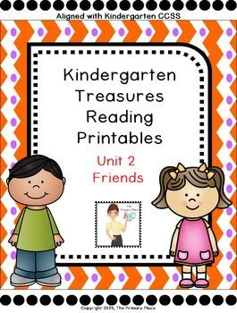 The Kindergarten Unit 2 Treasures Reading Printables Packet was created by The Primary Place.  There are 94 pages in this PDF file. This package was designed for the 2011 Treasures Edition.  If you teach another edition, please be aware that some of the stories or skills may different or altered. $