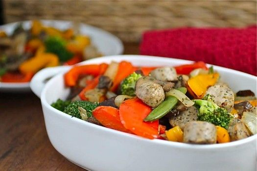 Chicken Sausage Stir Fry for a clean a healthy meal! Perfect for Clean ...