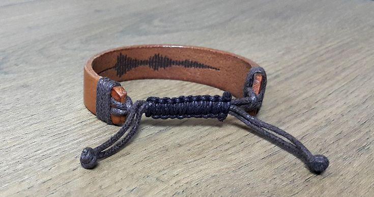 Loved One's Handwritten Leather Bracelet, Actual Handwriting Hidden Message Bracelet, Memorial Signature Jewelry, Adjustable Bracelet