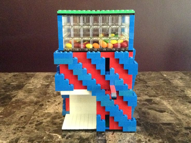 how to build lego candy machine