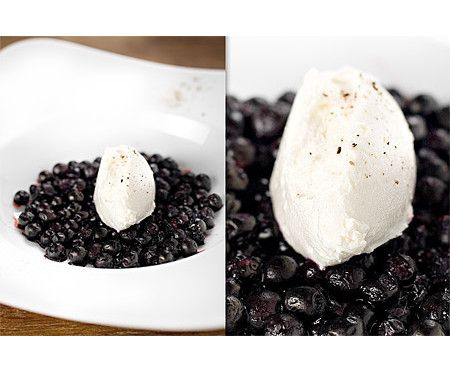 Blåbär med färskostcrème (utan socker)