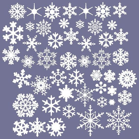 vinyl snowflakes wall decals set of 50 christmas snowflakes winte. Black Bedroom Furniture Sets. Home Design Ideas