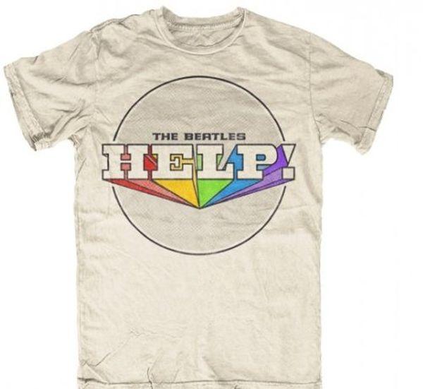 Beatles T-Shirt: Beatles Multi-Colored Help! -Beatles Fab Four ...