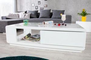 STOLIK FORTUNA biały lakierowany 21988 invicta interior planeta design nowoczesne i designerskie ławy - Planeta Design MEBLE DEKORACJE DESIGNERSKIE NOWOCZESNE KARE INVICTA INTERIOR wysyłka w 48h