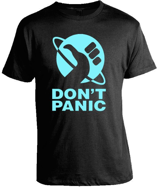 Hitchhikers Guide to the Galaxy - Don't Panic T-Shirt