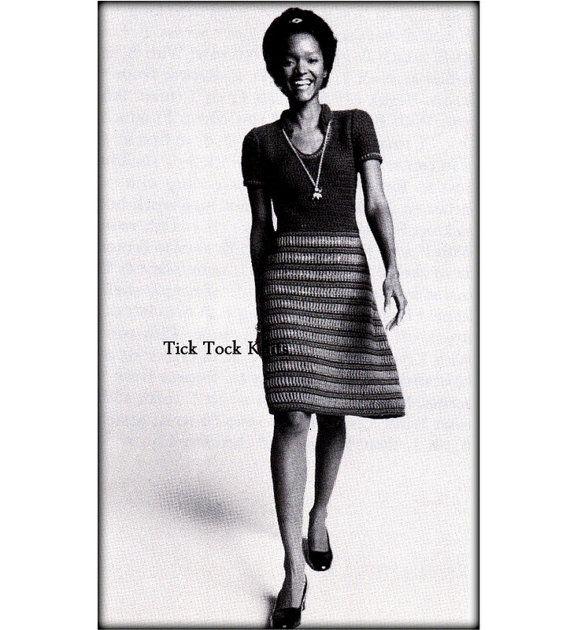 No.552 Crochet Pattern Women's Shirtdress  by TickTockKnits