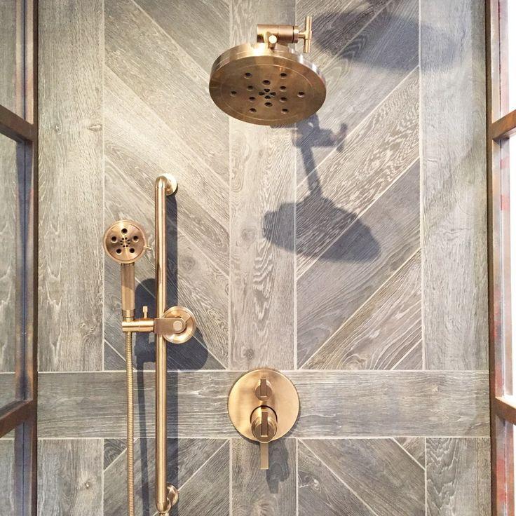 The Brizo Litze Collection has a fresh, contemporary luxe gold finish.