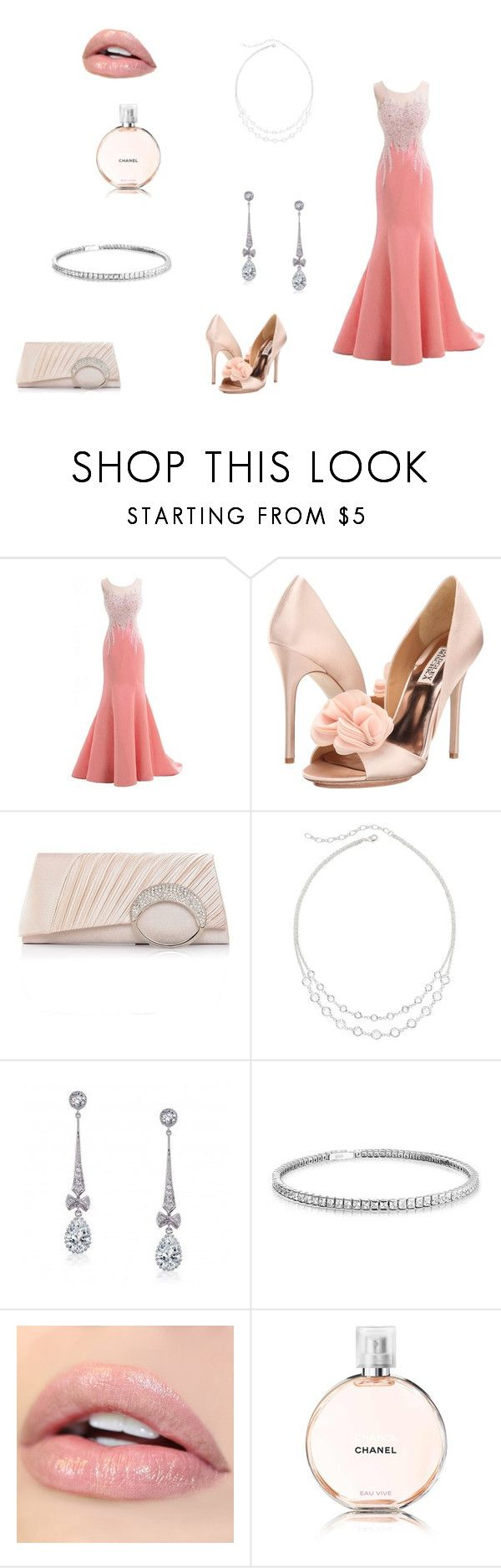 """""""Prom Night"""" by basher-977 ❤ liked on Polyvore featuring Badgley Mischka, Vieste Rosa, Bling Jewelry, Chanel and polyvorecontest"""