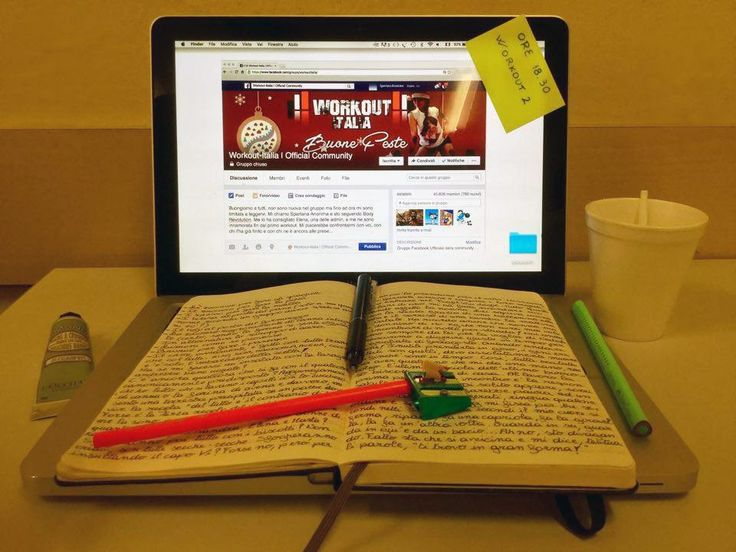 Diario di una spartana, day 18 #moleskine #macBook